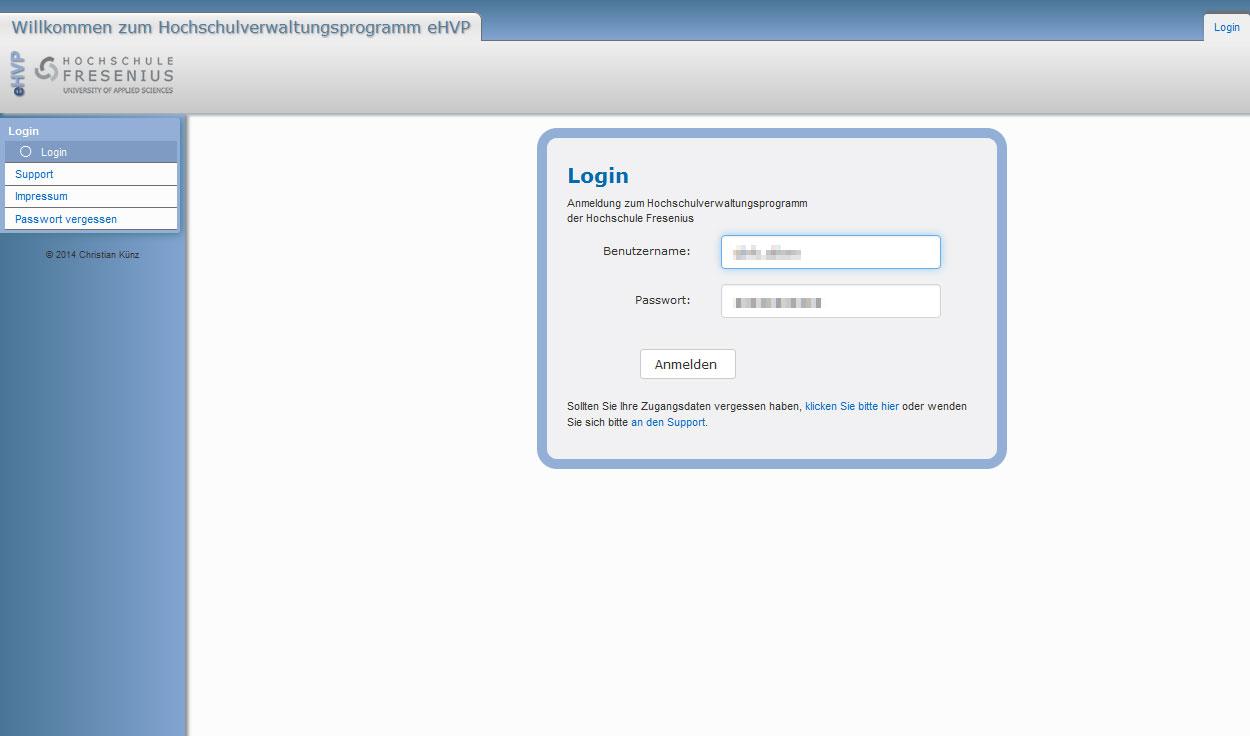 eHVP - Hochschulverwaltung Cognos AG